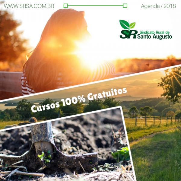AGENDA 2018 DE CURSOS – 100 % GRATUITOS – CONFIRA!