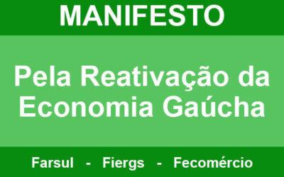 Entidades empresariais lançam manifesto pela reativação econômica
