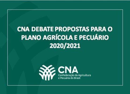 CNA debate propostas para o Plano Agrícola e Pecuário 2020/2021