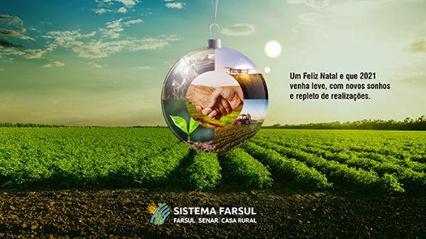 O Sistema Farsul está de férias coletivas entre os dias 21 de dezembro e 10 de janeiro